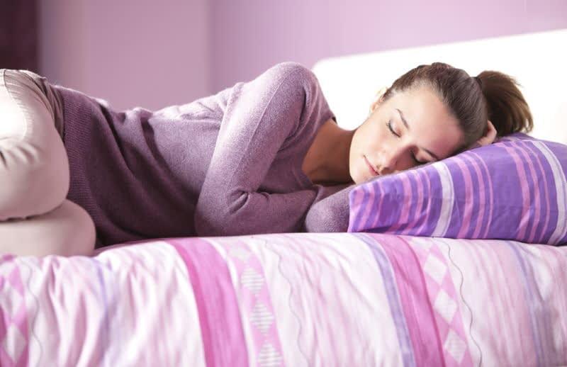 College Student Sleeping