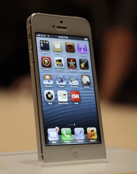 image of new apple iphone 5