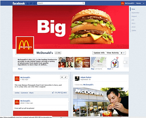 image of mcdonalds-facebook-fan-page
