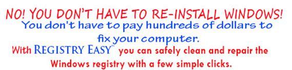 Don't Reinstall Windows Get Registry Easy