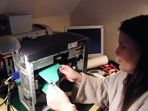 Computer Repair Woman