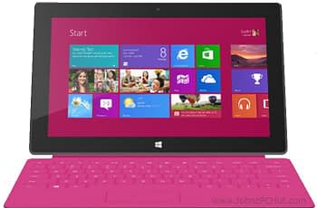 Microsoft Surface Tablet Pink
