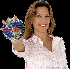 cute girl holding globe