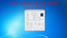 CPUID CPU-Z Software Screenshot