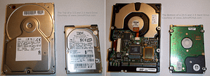 Image of the top and bottom of a hard drive