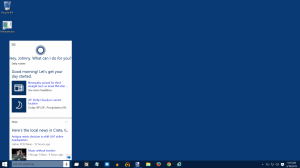 Cortana Virtual Assistant Windows 10 Screenshots