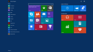 Full Start Menu Across Desktop - Windows 10 Screenshots