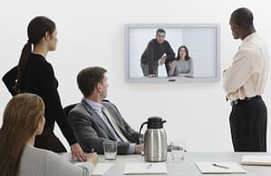 Image of group video conferencing