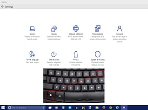 """Picture of How to Open Windows 10 Settings App Using """"Windows Key"""" + Letter """"I"""""""