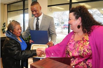 Image of someone receiving a certificate