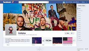 image of coldplay-facebook-fan-page
