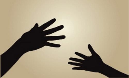 College Parents Connecting Hands