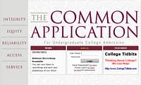 image of common application college tidbits