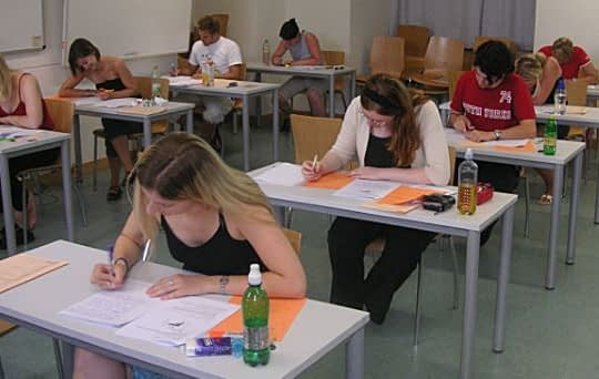 Students Taking ACT Exam