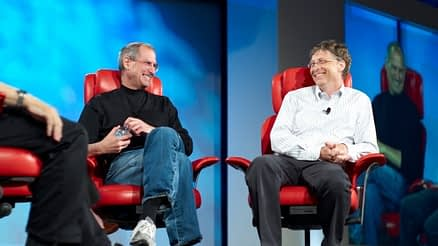 Image of Bill gates and Steve Jobs