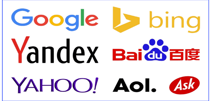 List of Major Search Engines