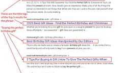 Google Search Result - SEO Title Tag