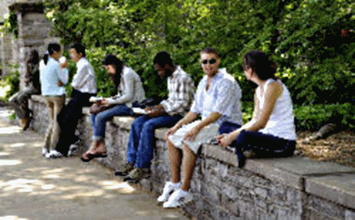 Image of College Students on Campus