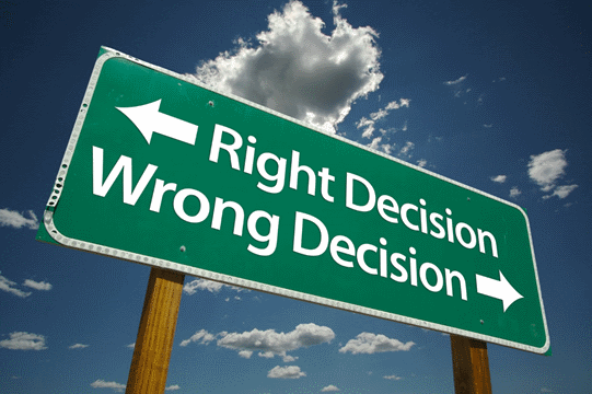 Image of a Sign about Decisions