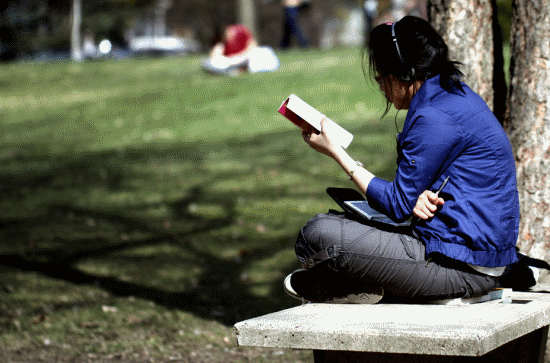 College Life - Studying Outside
